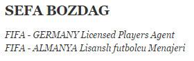 FIFA lisansli futbolcu menajeri
